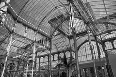 Palacio de Cristal, Parque del Buen Retiro, Madrid Arkivfoto