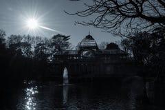 Palacio de Cristal, Parque del Buen Retiro, Madrid Royaltyfria Bilder