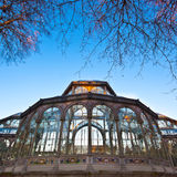 Palacio de Cristal in Retiro city park, Madrid Royalty Free Stock Images