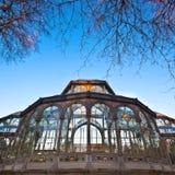 Palacio DE Cristal in Retiro-stadspark, Madrid Royalty-vrije Stock Afbeeldingen