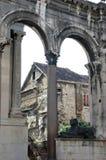 Palacio de Diocletian en fractura Foto de archivo libre de regalías