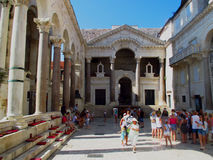 Palacio de Diocletian en fractura foto de archivo