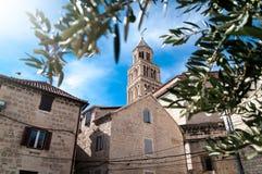 Palacio de Diocletian en fractura Imagen de archivo libre de regalías