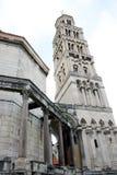 Palacio de Diocletian en fractura en el croata Imagen de archivo