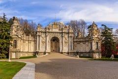 Palacio de Dolmabahce en Estambul Imagen de archivo