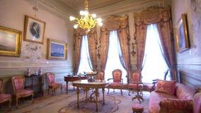 Palacio de Dolmabahce, gabinete de Mustafa Kamal Ataturk almacen de video