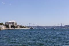 Palacio de Dolmabahce, rk de Bosphorus del ¼ del puente y de Atatà Estambul Turquía Foto de archivo libre de regalías