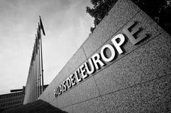Palacio de Europa en Estrasburgo Imagen de archivo