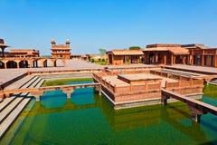 Palacio de Fatehpur Sikri, la India. Imagen de archivo