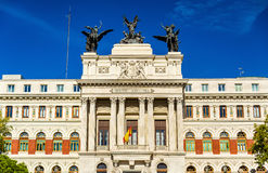 The Palacio de Fomento, Ministry of Agriculture in Madrid - Spain Royalty Free Stock Image