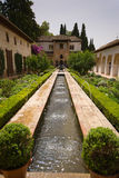 Palacio de Generalife. Whilst fountains and flowing water are a common feature around the Alhambra, they are particularly prevalent in the Palacio de Generalife Royalty Free Stock Photos