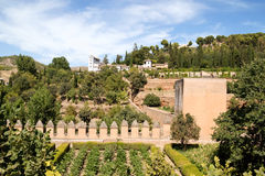 Palacio de Generalife in Granada, Spain Royalty Free Stock Photo
