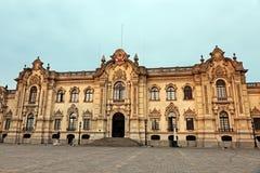 Palacio de Gobierno - alcalde de la plaza, Lima Imagen de archivo