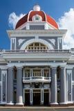 Palacio de Gobierno i Cienfuegos, Kuba Arkivbild