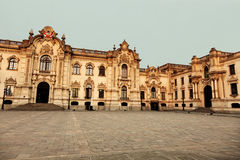 Palacio de Gobierno - Plaza Mayor, Lima Royalty Free Stock Photography