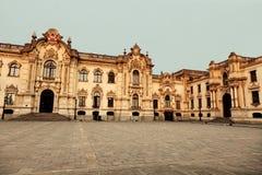Palacio de Gobierno - sindaco della plaza, Lima Fotografia Stock Libera da Diritti