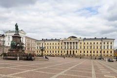 Palacio de Governmet en Helsinki Imagen de archivo libre de regalías