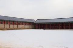 Palacio de Gyeongbokgung en invierno Fotos de archivo libres de regalías