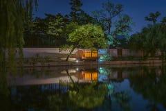 Palacio de Gyeongbokgung en la noche Fotos de archivo