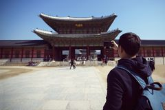 Palacio de Gyeongbokgung foto de archivo libre de regalías