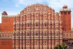 Palacio de Hawa Mahal- de vientos. Jaipur, la India. Imagenes de archivo