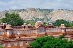 Palacio de Hawa Mahal en Jaipur, Rajasthán imágenes de archivo libres de regalías
