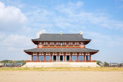 Palacio de Heijo en Nara, Japón Imagen de archivo