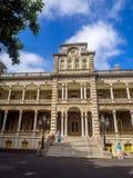 Palacio de Iolani en Honolulu Hawaii Fotos de archivo libres de regalías