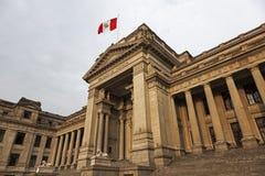 Palacio de Justicia в городском Лиме Стоковая Фотография RF