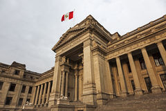 Palacio de Justicia en Lima céntrica Fotografía de archivo libre de regalías