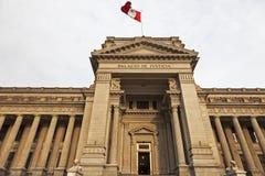 Palacio de Justicia i i stadens centrum Lima Royaltyfri Foto