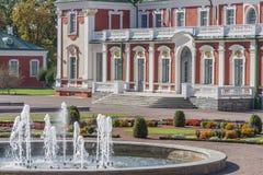 Palacio de Kadriorg, ciudad de Tallinn, Estonia Fotos de archivo