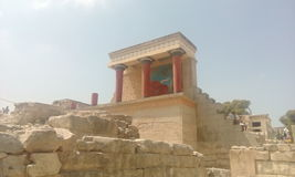 Palacio de Knossos Fotos de archivo