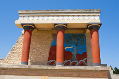 Palacio de Knossos, Crete fotografía de archivo