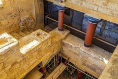 Palacio de Knossos en palacio de Creta, Grecia Knossos imagen de archivo libre de regalías