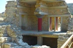 Palacio de Knossos en Crete fotografía de archivo libre de regalías