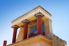 Palacio de Knossos en Crete, Grecia fotografía de archivo libre de regalías