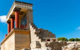 Palacio de Knossos en Crete, Grecia fotografía de archivo