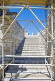 Palacio de Knossos Minoan en Crete, Grecia bajo furth imágenes de archivo libres de regalías