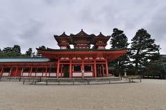 Palacio de la capilla de Heian Imágenes de archivo libres de regalías