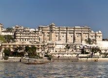 Palacio de la ciudad de Udaipur Imagenes de archivo