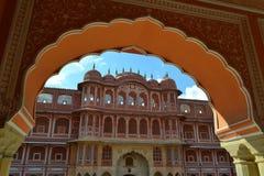Palacio de la ciudad en Jaipur, Rajasthán, la India Imágenes de archivo libres de regalías