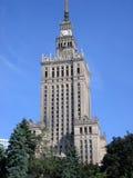 Palacio de la cultura de Varsovia Foto de archivo