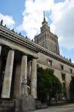 Palacio de la cultura y de la ciencia - Varsovia Foto de archivo