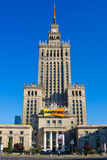 Palacio de la cultura y de la ciencia en Varsovia. Imagenes de archivo