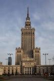 Palacio de la cultura y de la ciencia en Varsovia Imagen de archivo libre de regalías