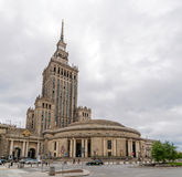 Palacio de la cultura y de la ciencia en Varsovia, Polonia Foto de archivo