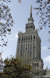 Palacio de la cultura y de la ciencia - Varsovia Imagen de archivo libre de regalías