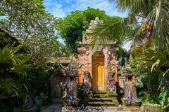 Palacio de la familia real de Ubud, isla de Bali Imágenes de archivo libres de regalías