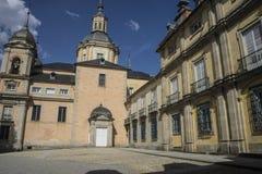 Palacio de la Granja de San Ildefonso i Madrid, Spanien Beautifu Arkivbilder